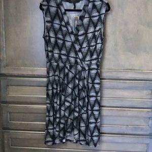 BCBG geometric print, wrap dress
